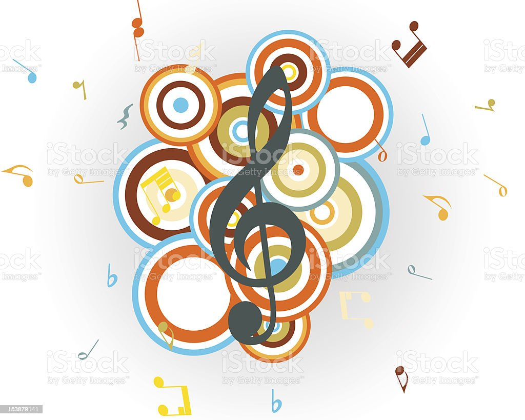 musical clef royalty-free stock vector art