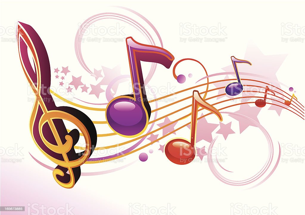 Clef & Notes royalty-free stock vector art