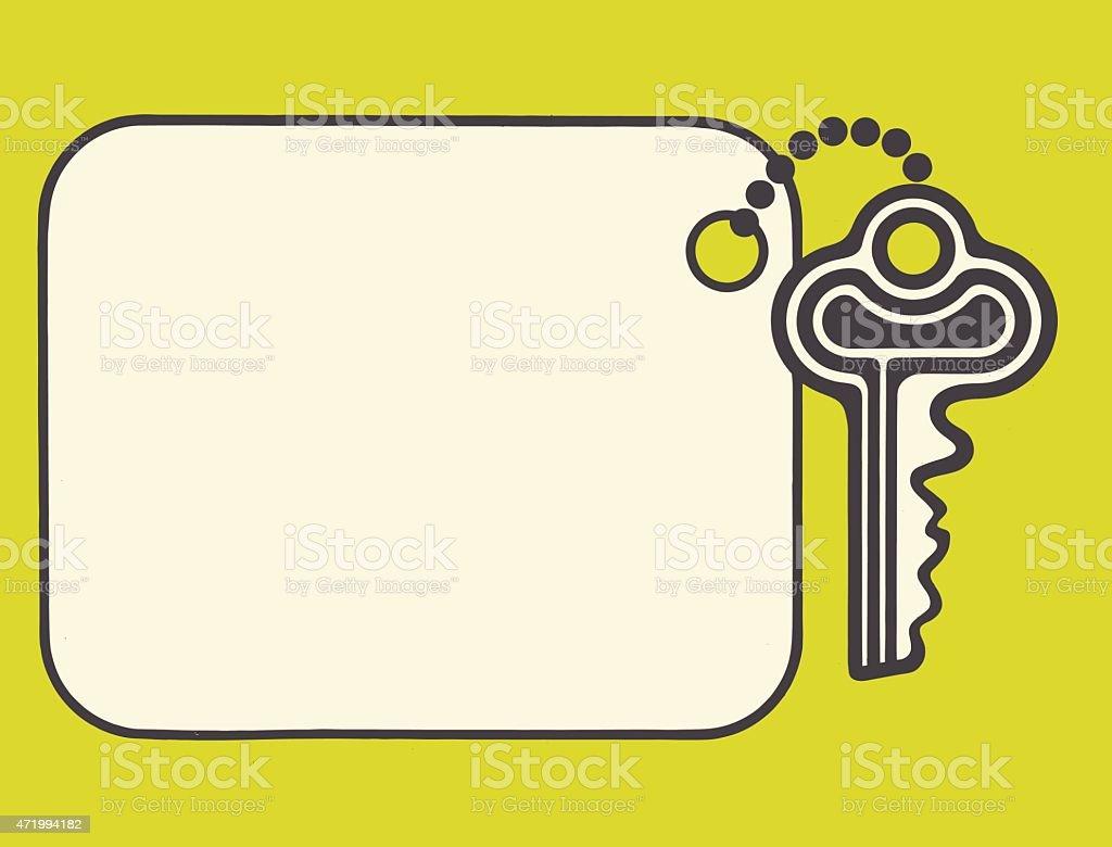 Key on Blank Tag vector art illustration