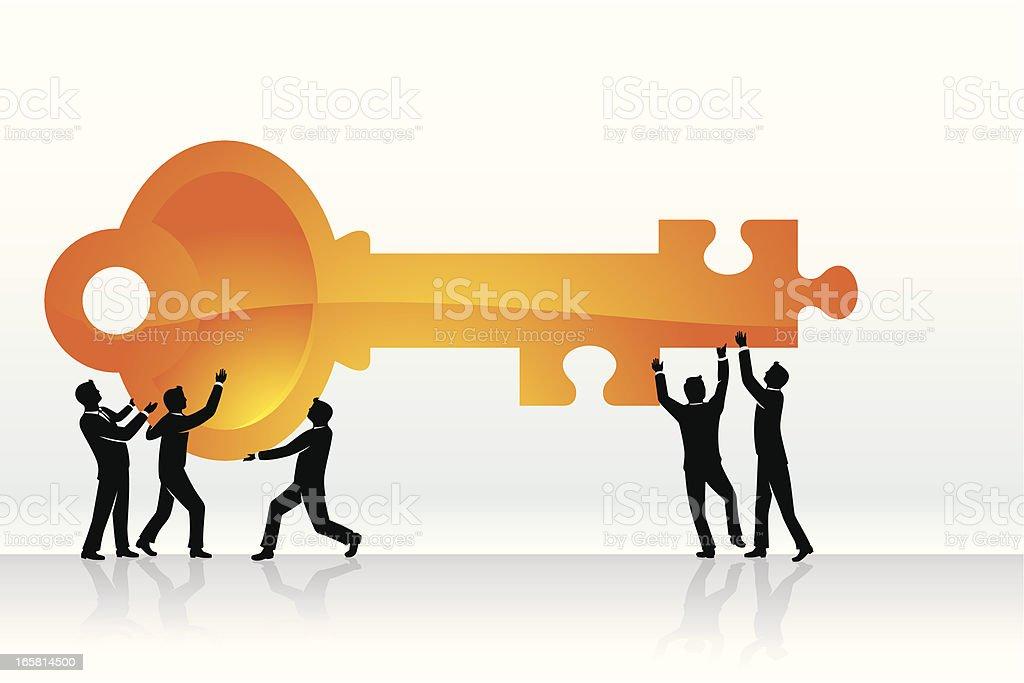 Key Solution royalty-free stock vector art