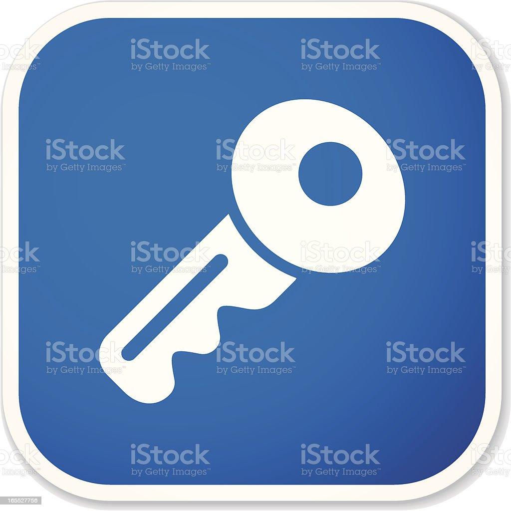 key sq sticker royalty-free stock vector art