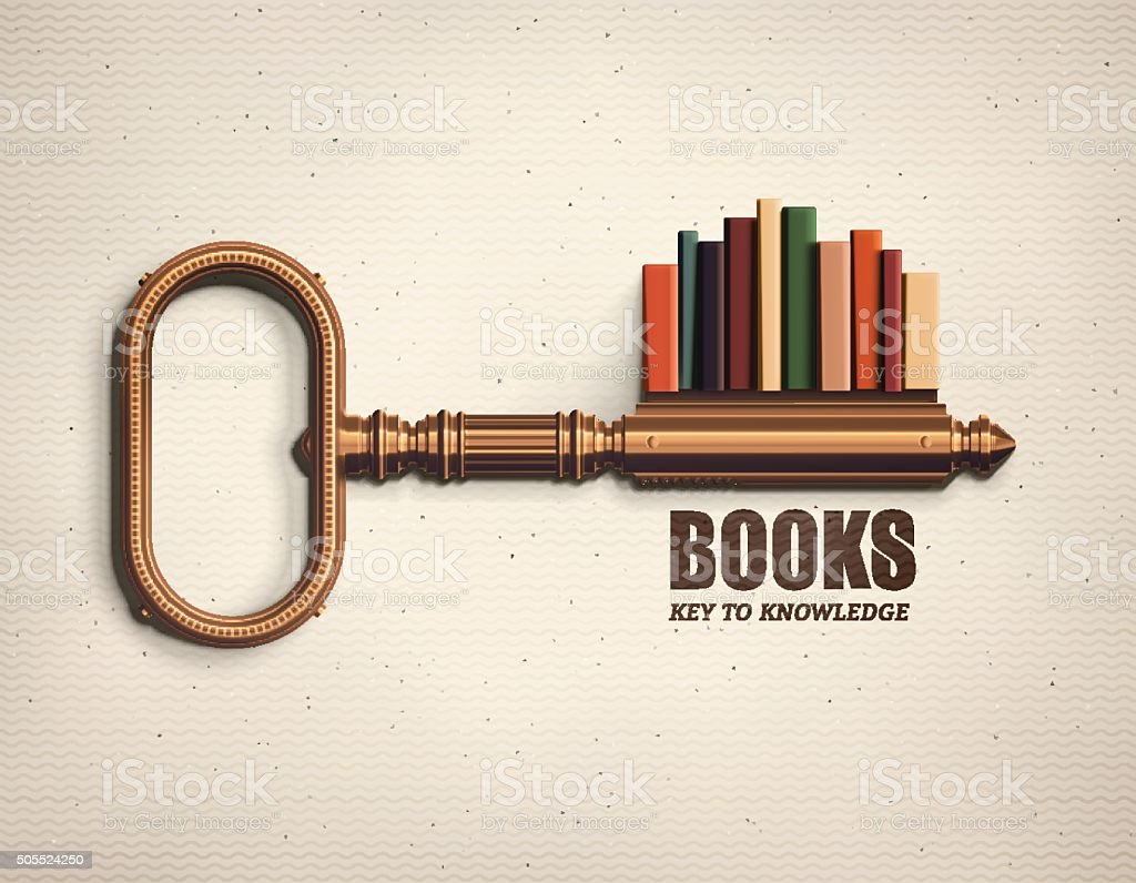 Key to Knowledge vector art illustration