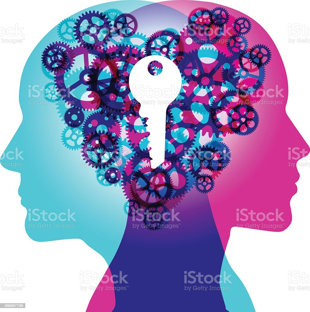 Key to Shared Love vector art illustration