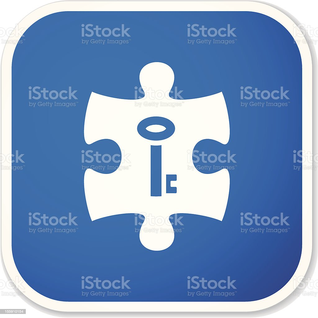 key to strategy sq sticker royalty-free stock vector art