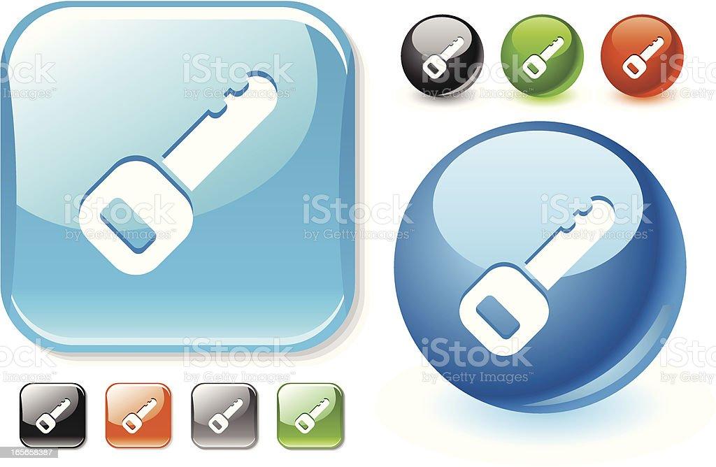 Key to Unlock glossy icon royalty-free stock vector art