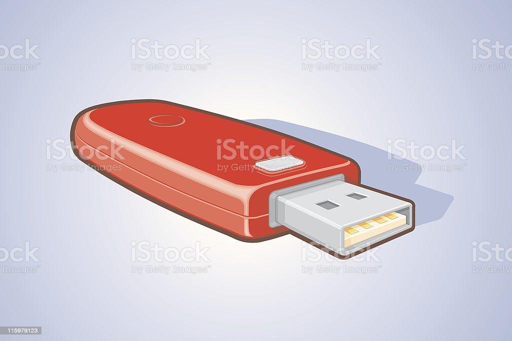 USB Key royalty-free stock vector art
