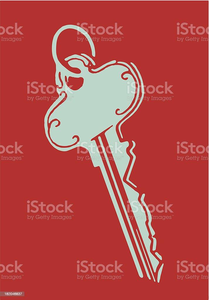 Key royalty-free stock vector art