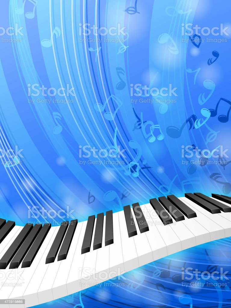 Keyboard Background vector art illustration