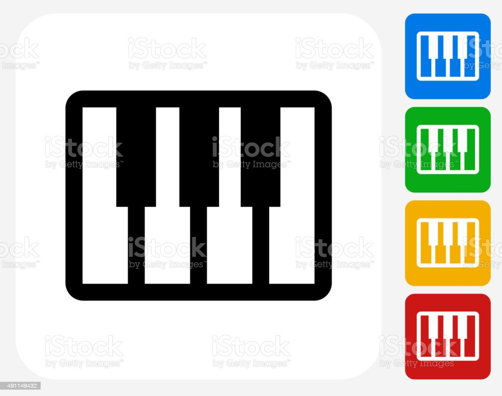 Keyboard Icon Flat Graphic Design vector art illustration