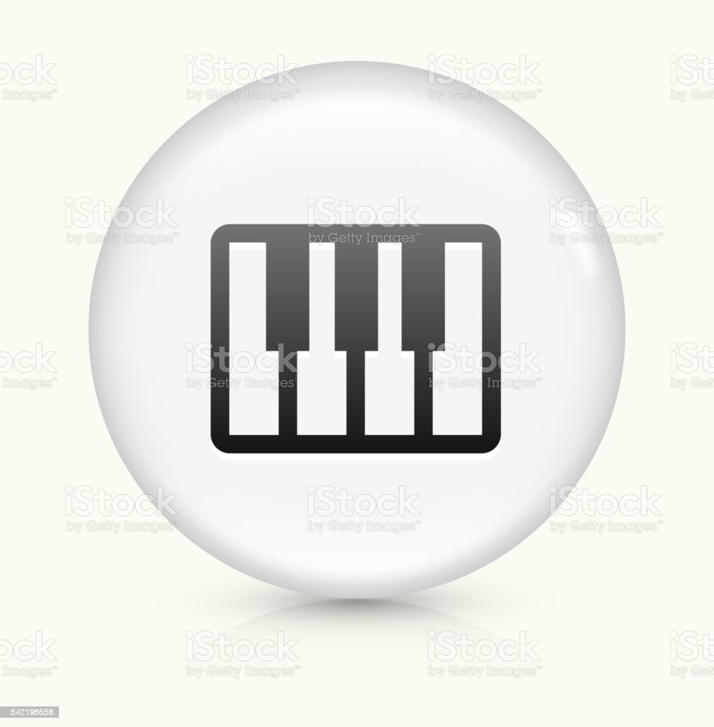 Keyboard icon on white round vector button vector art illustration