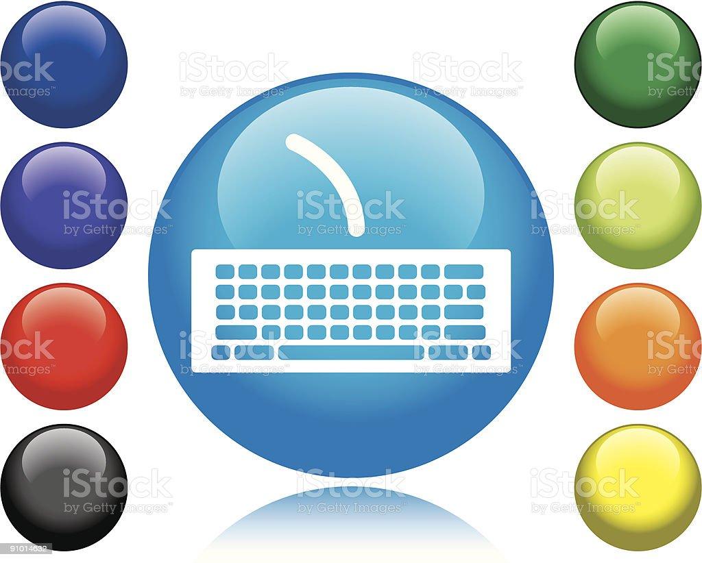 Keyboard Icon royalty-free stock vector art