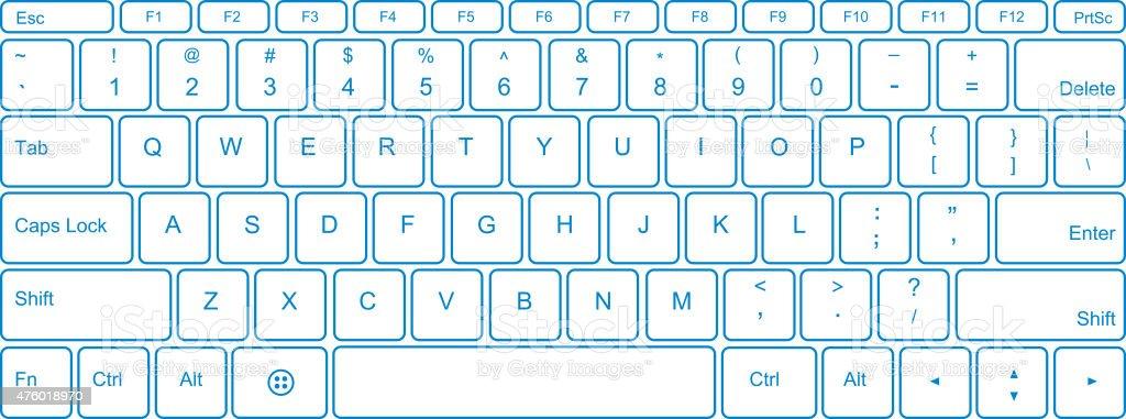 Keyboard vector art illustration