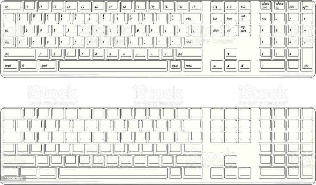 Keyboard ~ Vector royalty-free stock vector art