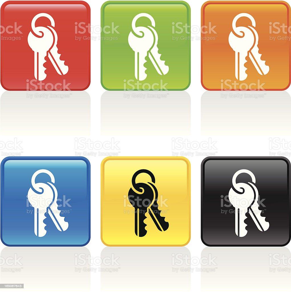 Keychain Icon vector art illustration