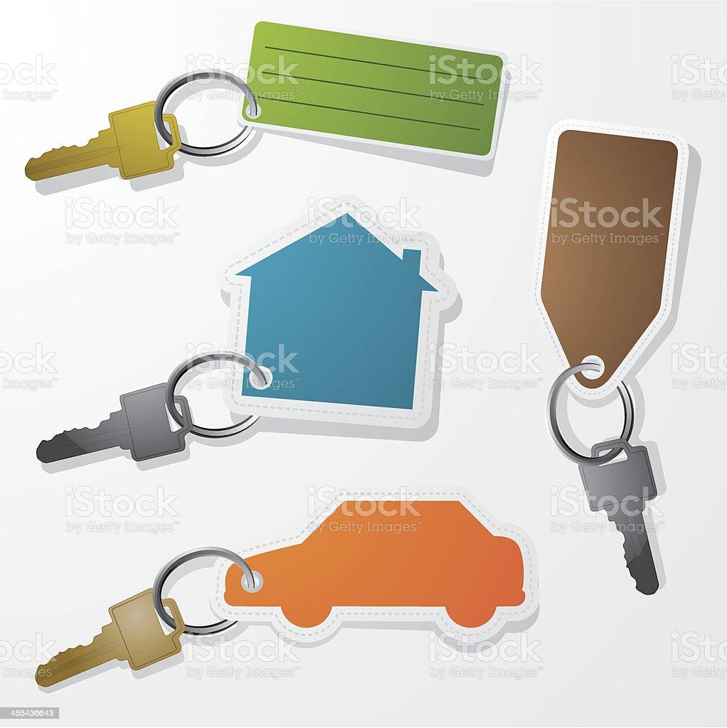 Keychains vector art illustration