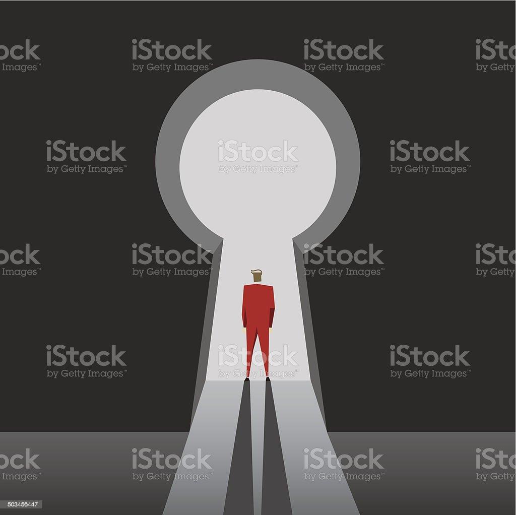 Keyhole vector art illustration