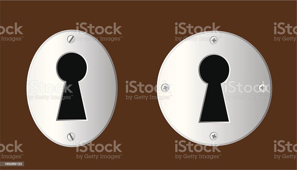 Keyholes vector art illustration