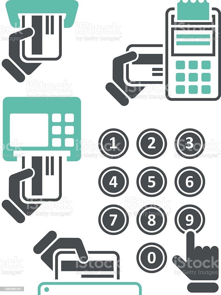 ATM keypad and POS-Terminal vector art illustration