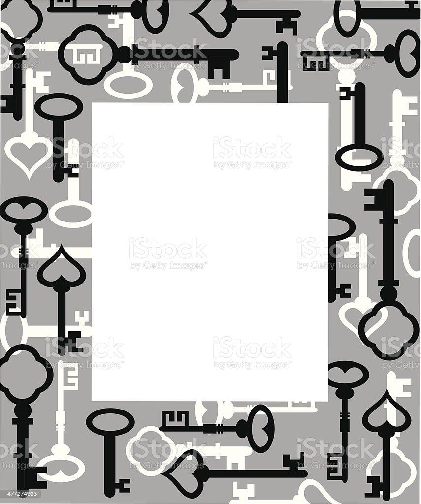 Keys Frame vector art illustration