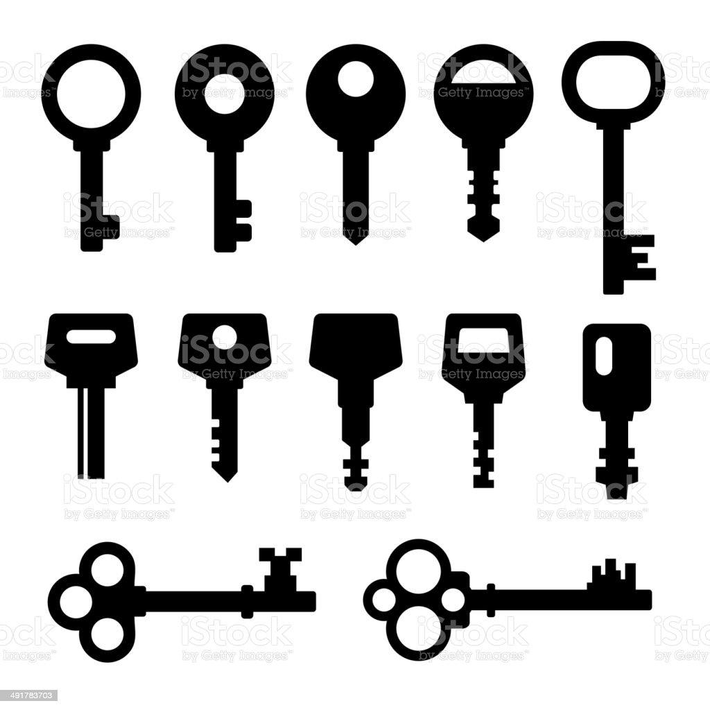 Keys icons royalty-free stock vector art