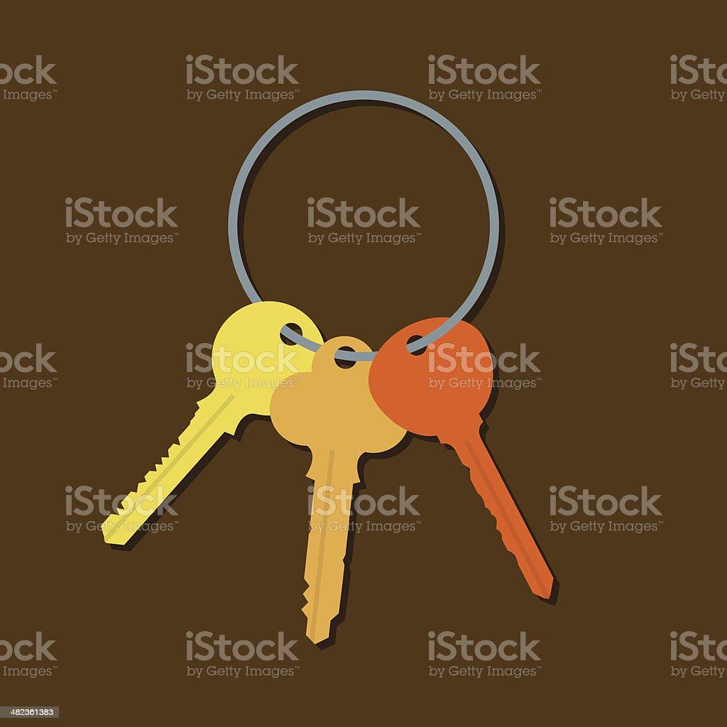 Keys In A Bunch vector art illustration
