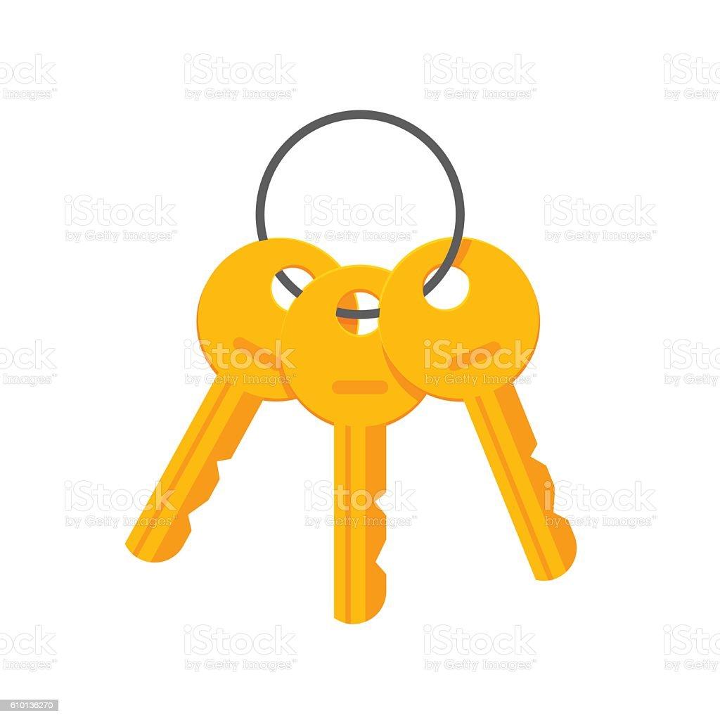 Keys on key ring vector illustration isolated vector art illustration