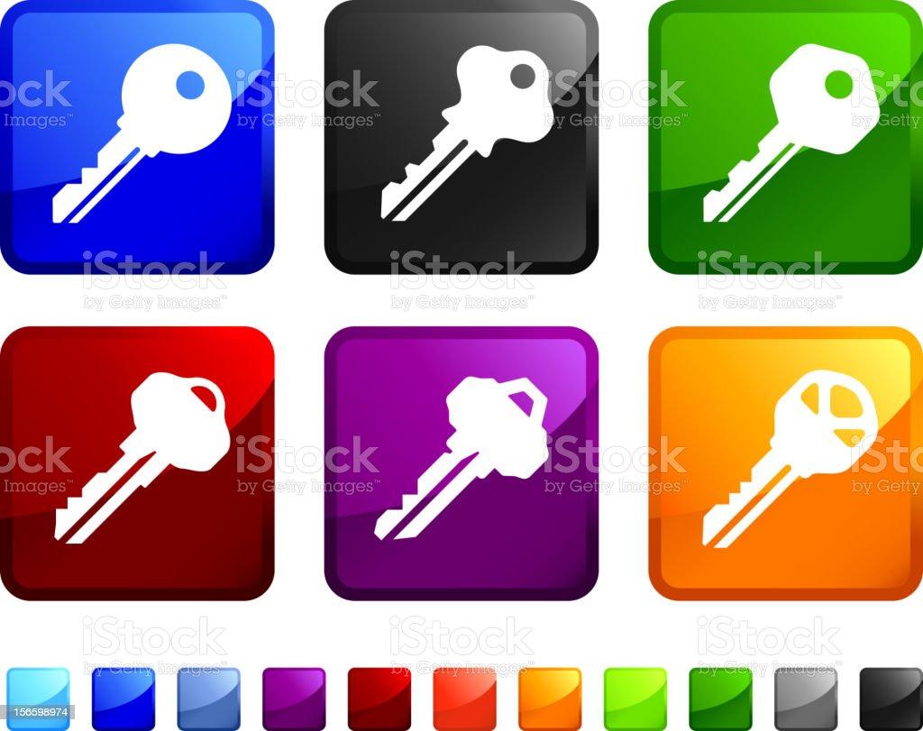 Keys royalty free vector icon set stickers royalty-free stock vector art
