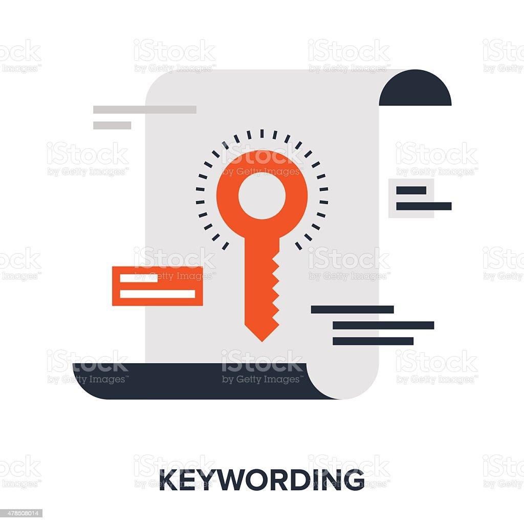 keywording vector art illustration