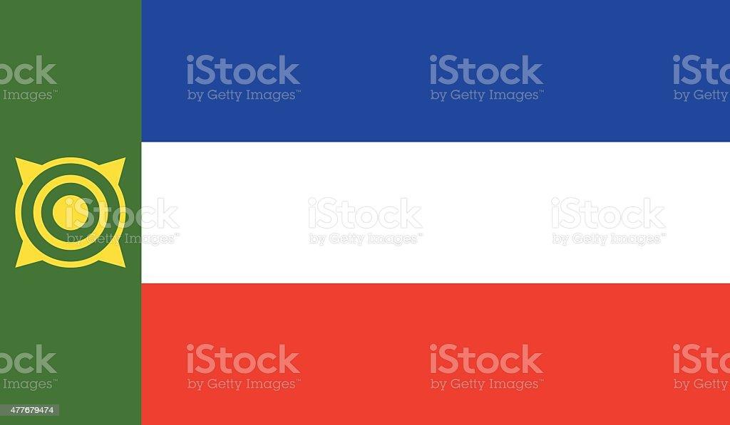 Khakassia flag vector art illustration