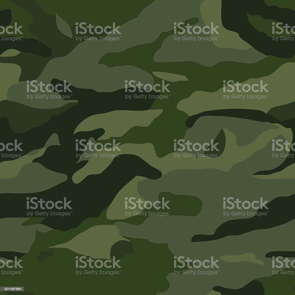 Khaki camouflage pattern vector art illustration