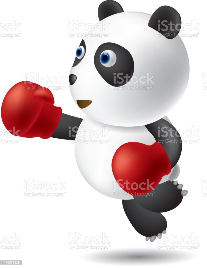 Kick boxer royalty-free stock vector art