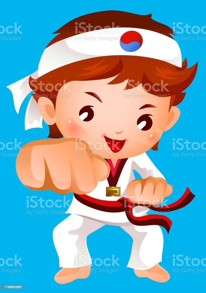 kick of martial artist royalty-free stock vector art