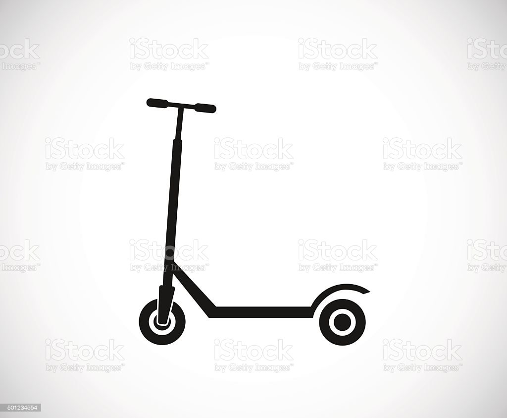 kick scooter icon vector art illustration