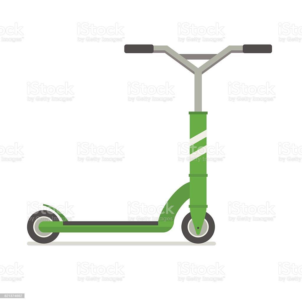 Kick Scooter Vector Illustratiom vector art illustration