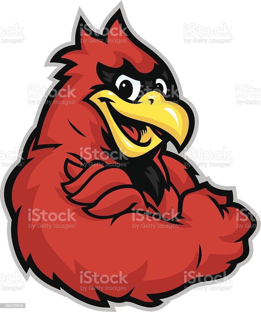 Kid Cardinal Mascot vector art illustration