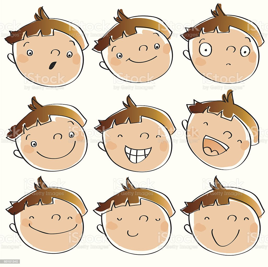 kid face expressions royalty-free stock vector art