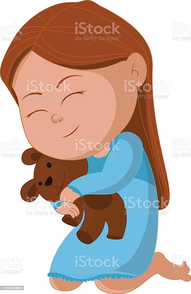 ours câlin Kid stock vecteur libres de droits libre de droits