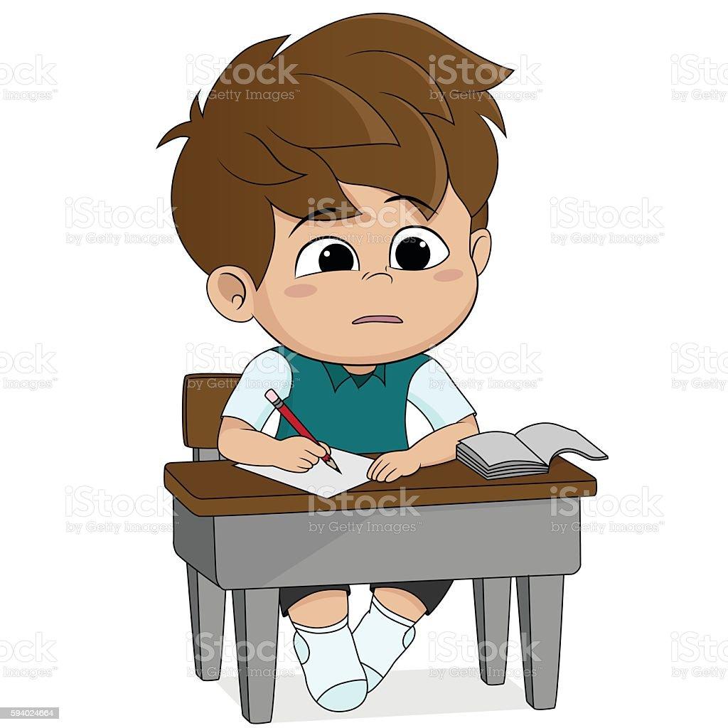 kid learning.Back to school. stock vecteur libres de droits libre de droits