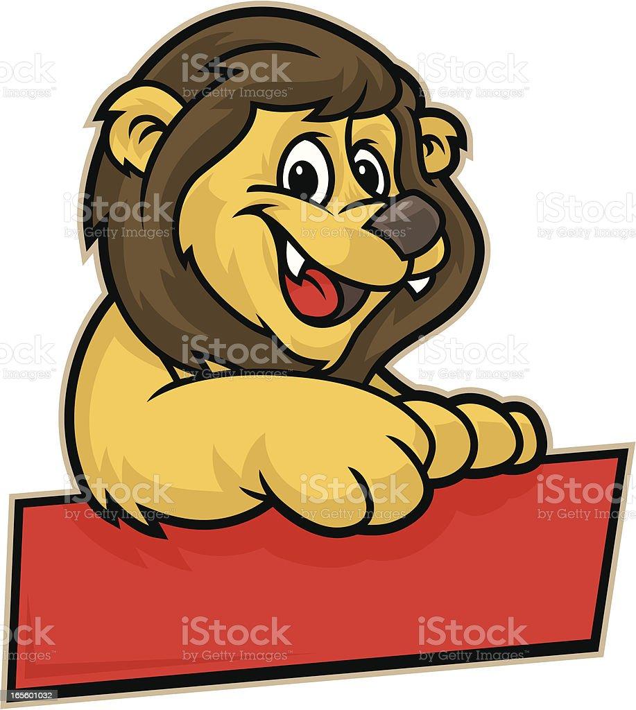 Kid Lion Cub royalty-free stock vector art