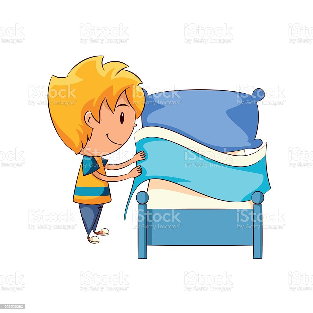 making bed clip art vector images amp illustrations istock