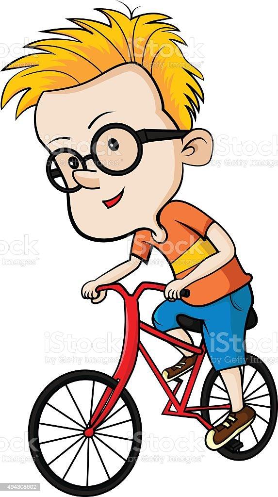 Enfant sur vélo stock vecteur libres de droits libre de droits