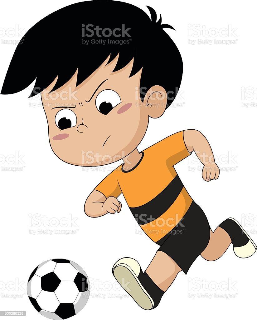 Enfants jouant au football stock vecteur libres de droits libre de droits