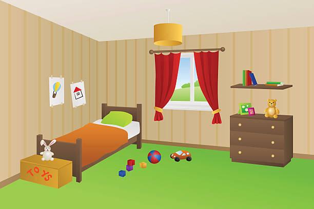Kids Bed Vector