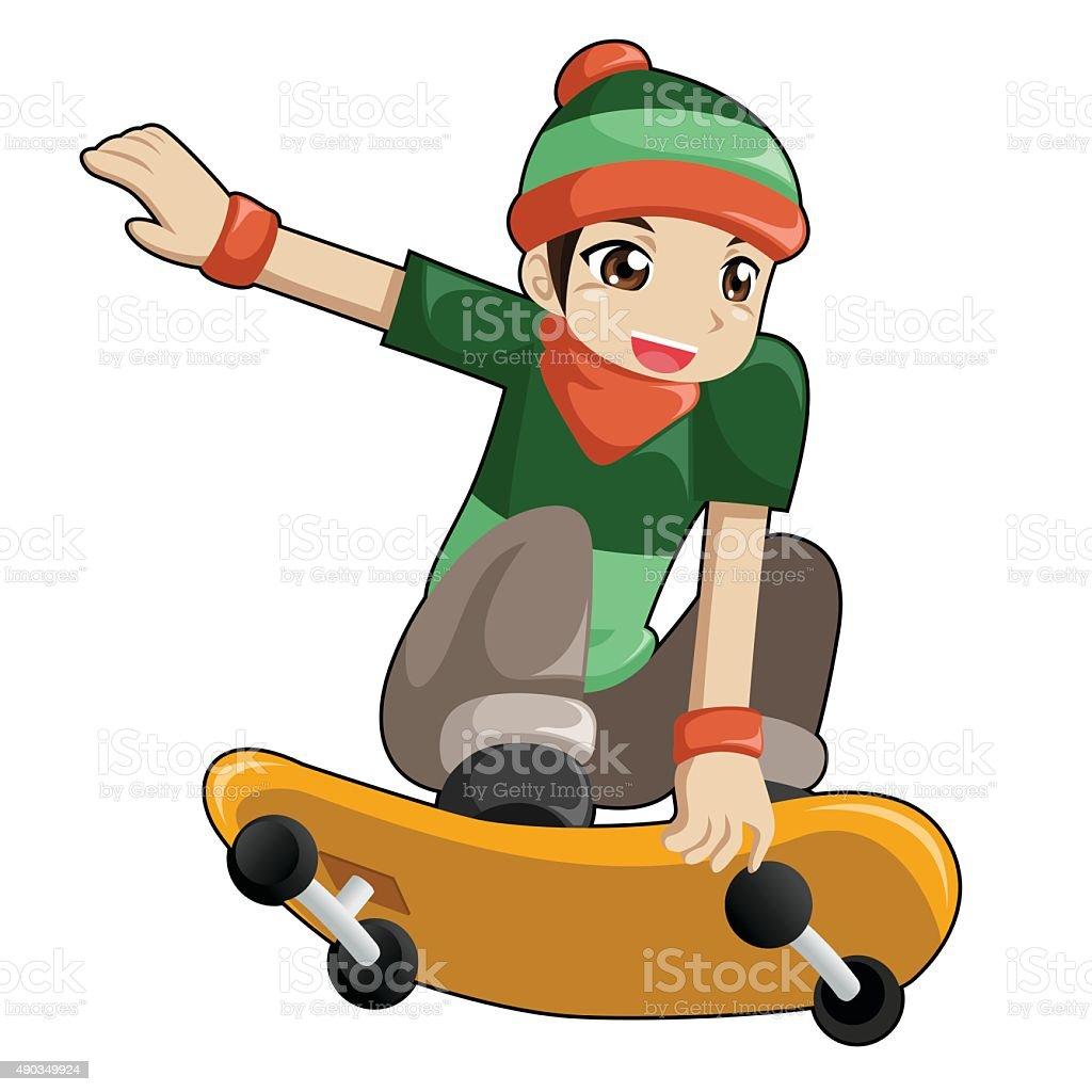 Kid de patinaje illustracion libre de derechos libre de derechos