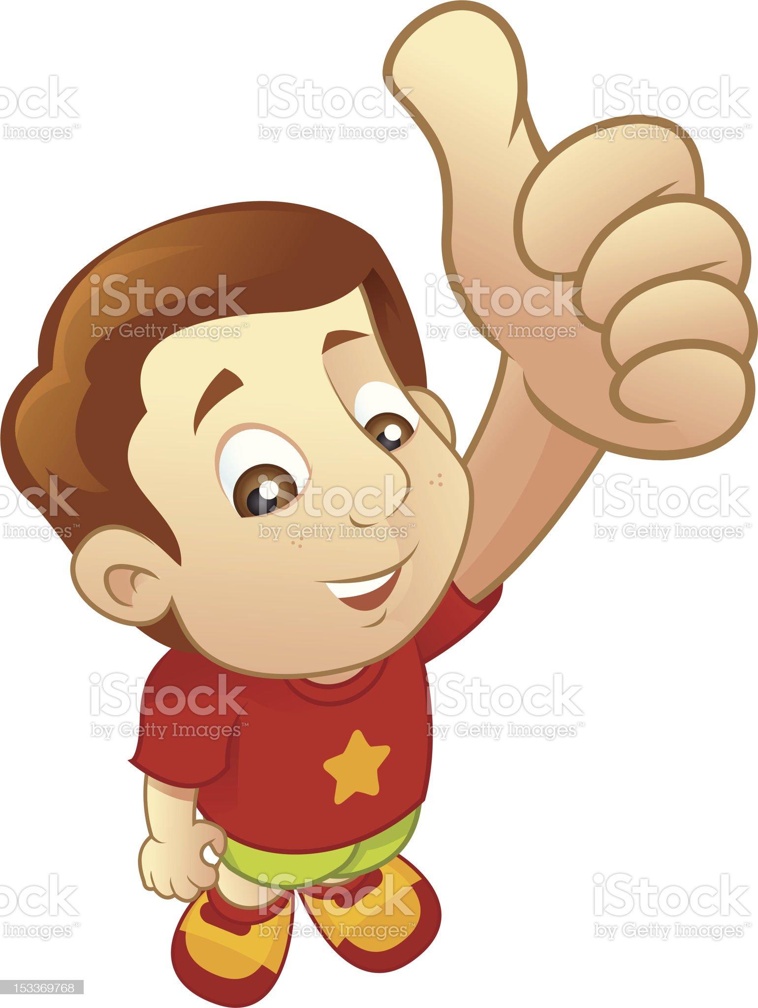 Kid - thumb up royalty-free stock vector art