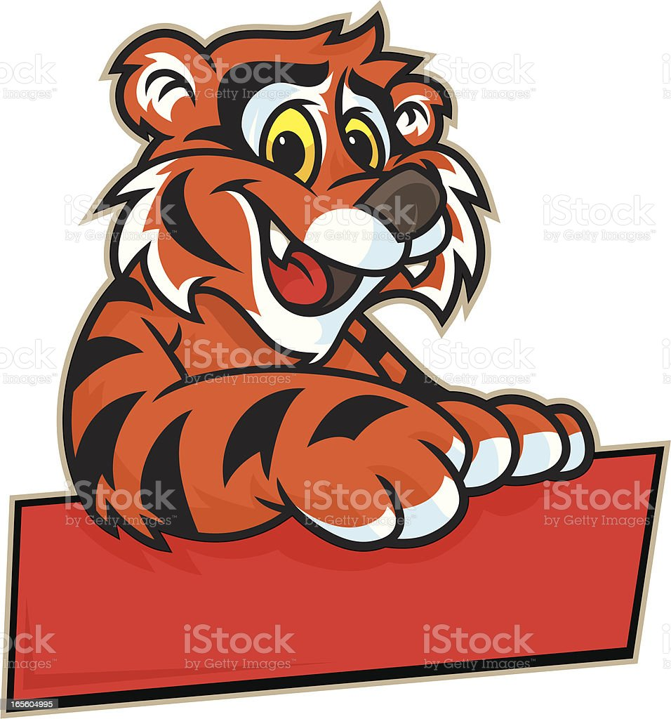 Kid Tiger Sign royalty-free stock vector art