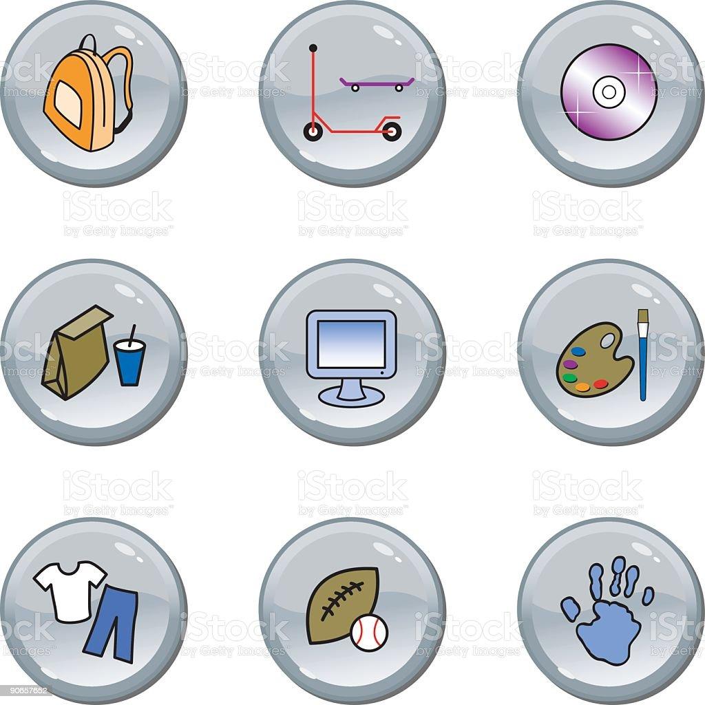 Kid website icons royalty-free stock vector art