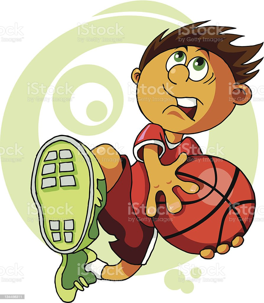kid with the ball royalty-free stock vector art