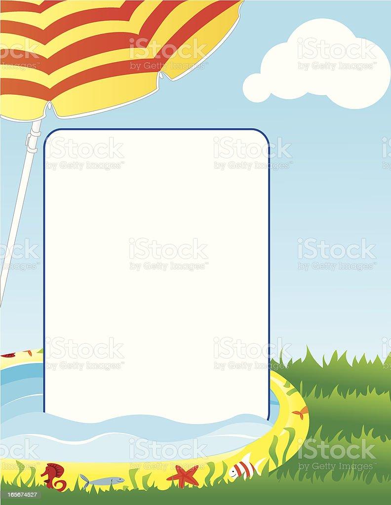 Kiddie Pool Background vector art illustration