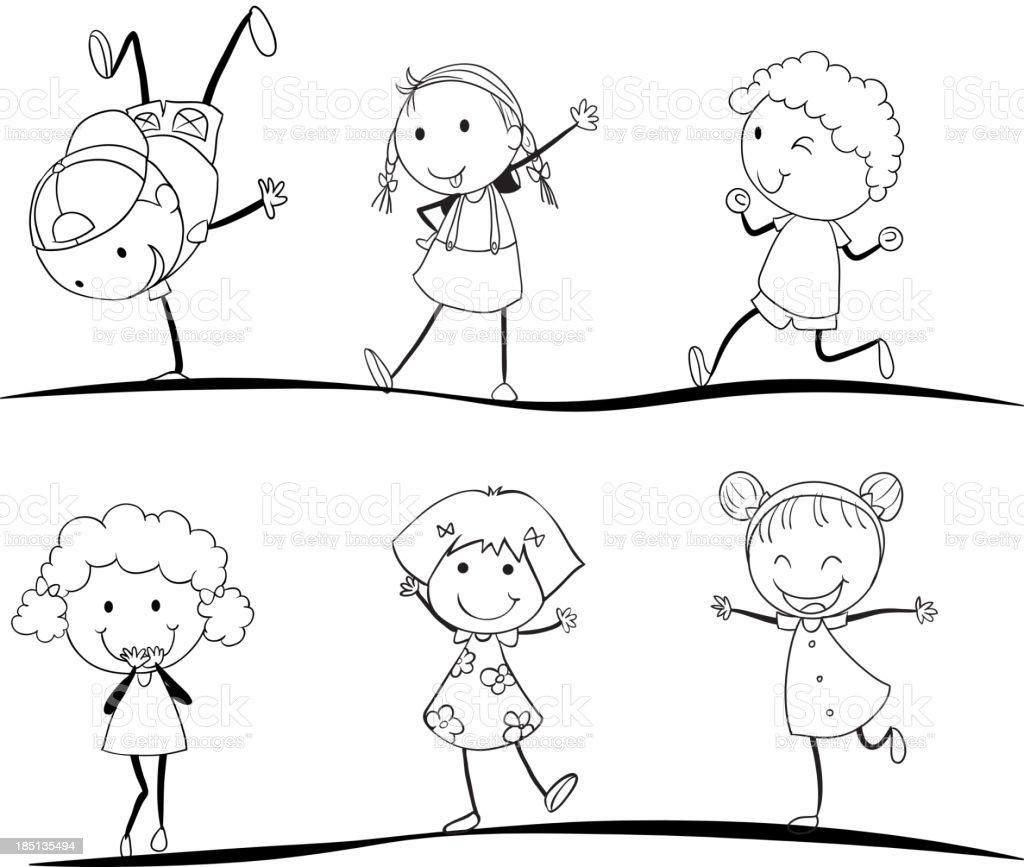 kids activity royalty-free stock vector art